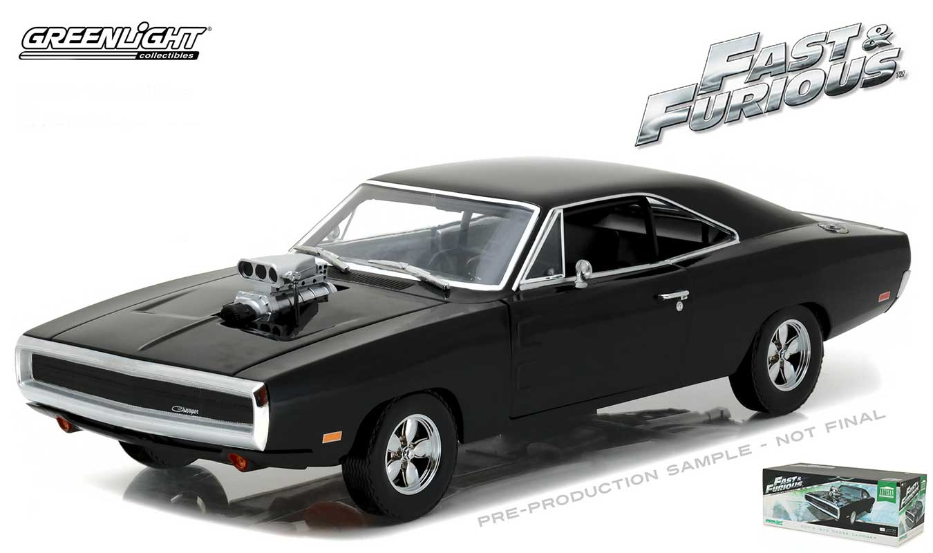fast furious dom 39 s 1970 dodge charger r t 1 18 scale. Black Bedroom Furniture Sets. Home Design Ideas