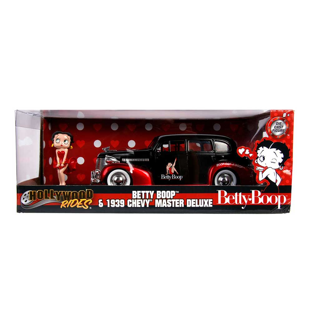 Hollywood Rides: Betty Boop & 1939 Chevy Master Deluxe 1/24 Scale