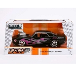 Bigtime Muscle Series: 1969 Chevy Camaro (Black with Flames) 1/24 Scale