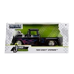 Just Truck Series: 1955 Chevy Stepside Engine Blower (Black with Flames) 1/24 Scale
