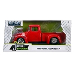 Just Truck Series: 1956 Ford F100 Engine Blower with Flames (Red) 1/24 Scale