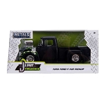 Just Truck Series: 1956 Ford F100 Engine Blower with Flames (Black) 1/24 Scale