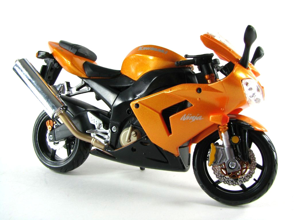 maisto motorcycle series kawasaki ninja zx 10r 1 12 scale orange. Black Bedroom Furniture Sets. Home Design Ideas