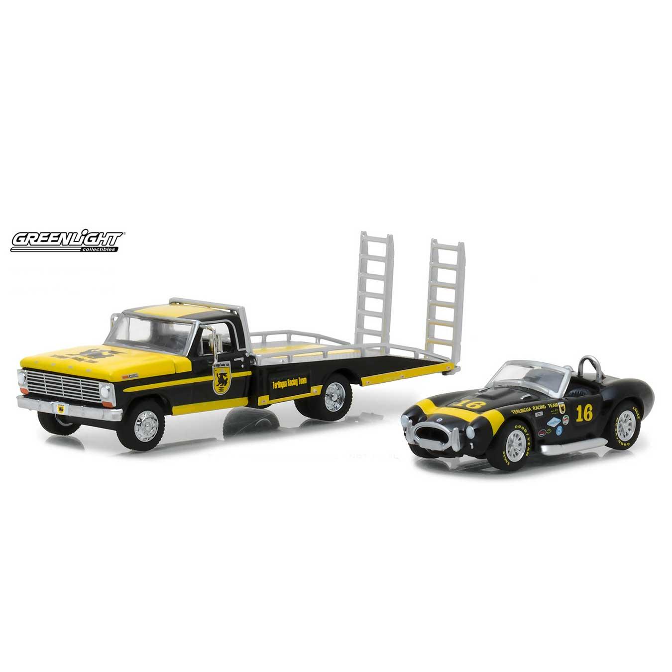 greenlight hd trucks 1967 ford f 350 ramp truck with shelby cobra