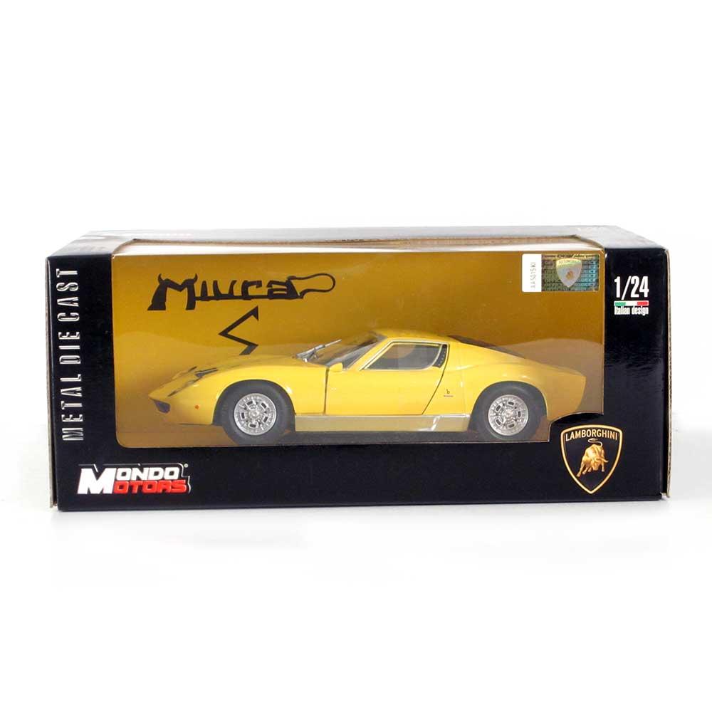 Mondo Motors Lamborghini Miura P 400 Yellow 1 24 Scale
