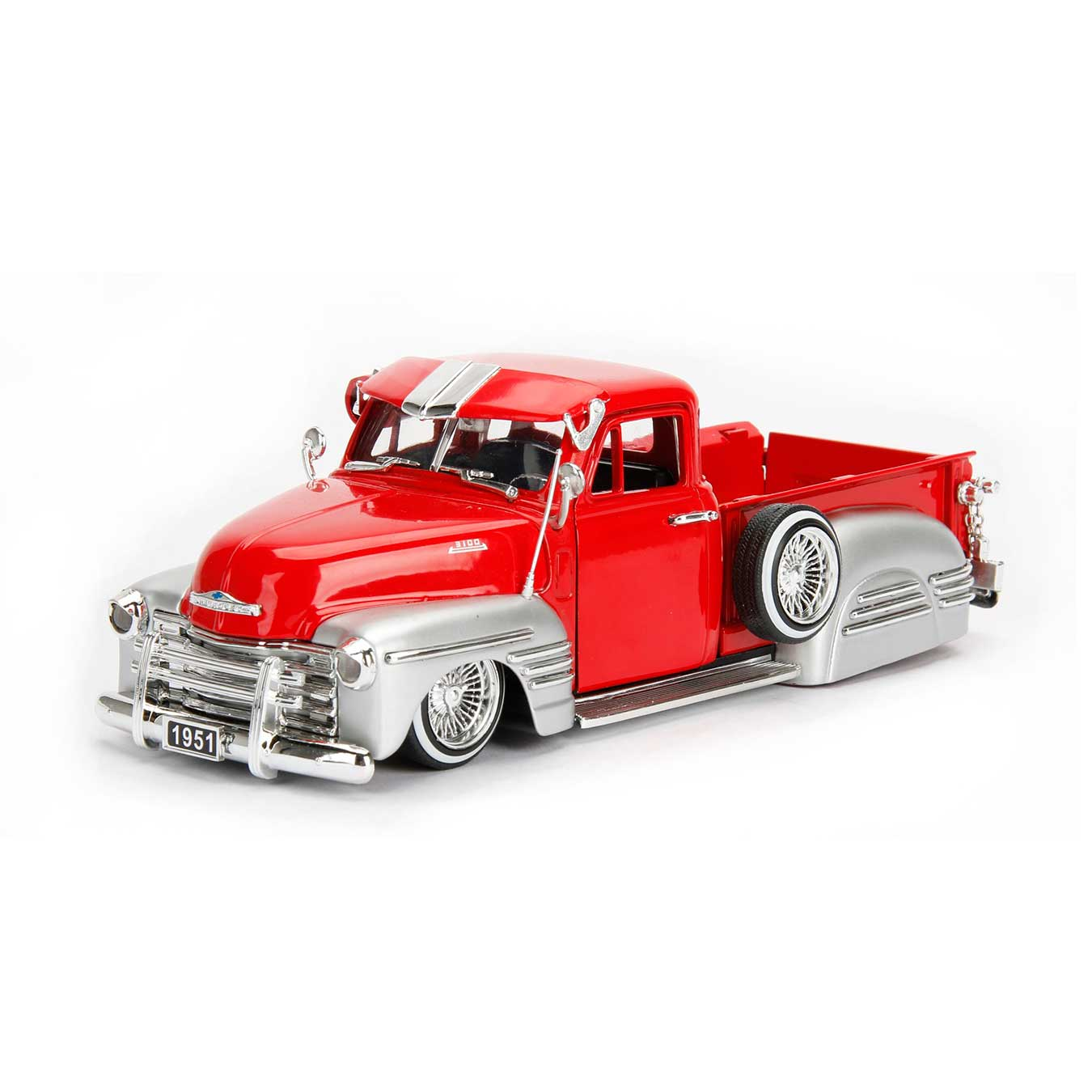 Just Trucks Series 1951 Chevy Pick Up Truck Red 1 24 Scale Chevrolet Police Car Quick View