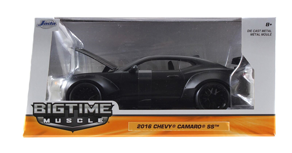 Bigtime Muscle Series: 2016 Chevy Camaro SS Wide Body GT Wing (Matte Black) 1/24 Scale