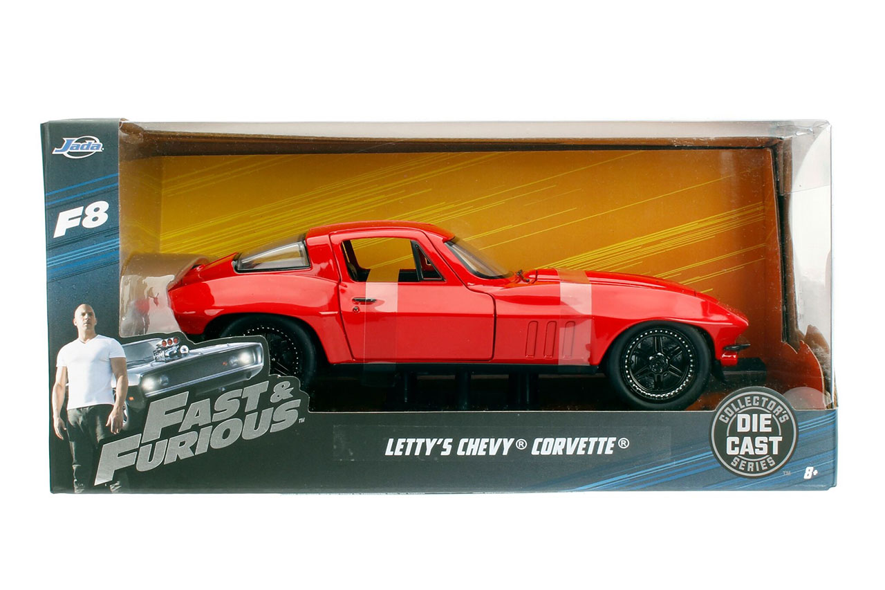 Fast & Furious 8: Letty's Chevy Corvette (Red) 1:24 Scale