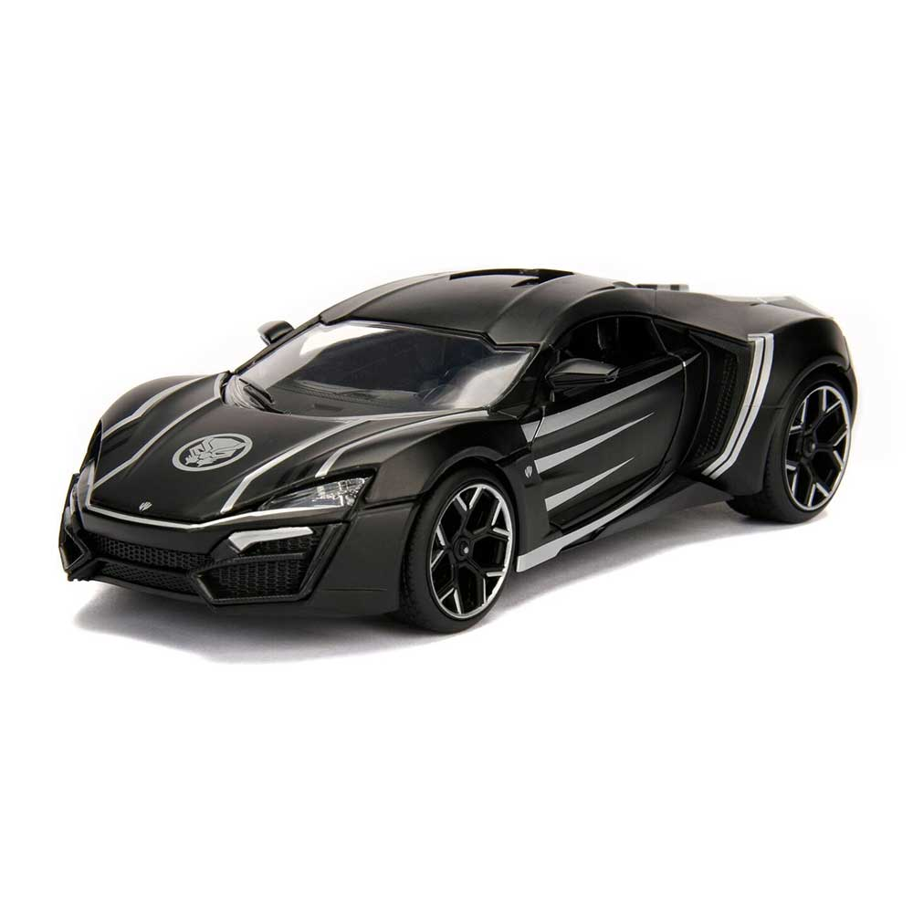 Jada Hollywood Rides: Marvel Avengers Black Panther & Lykan Hypersport 1/24  Scale