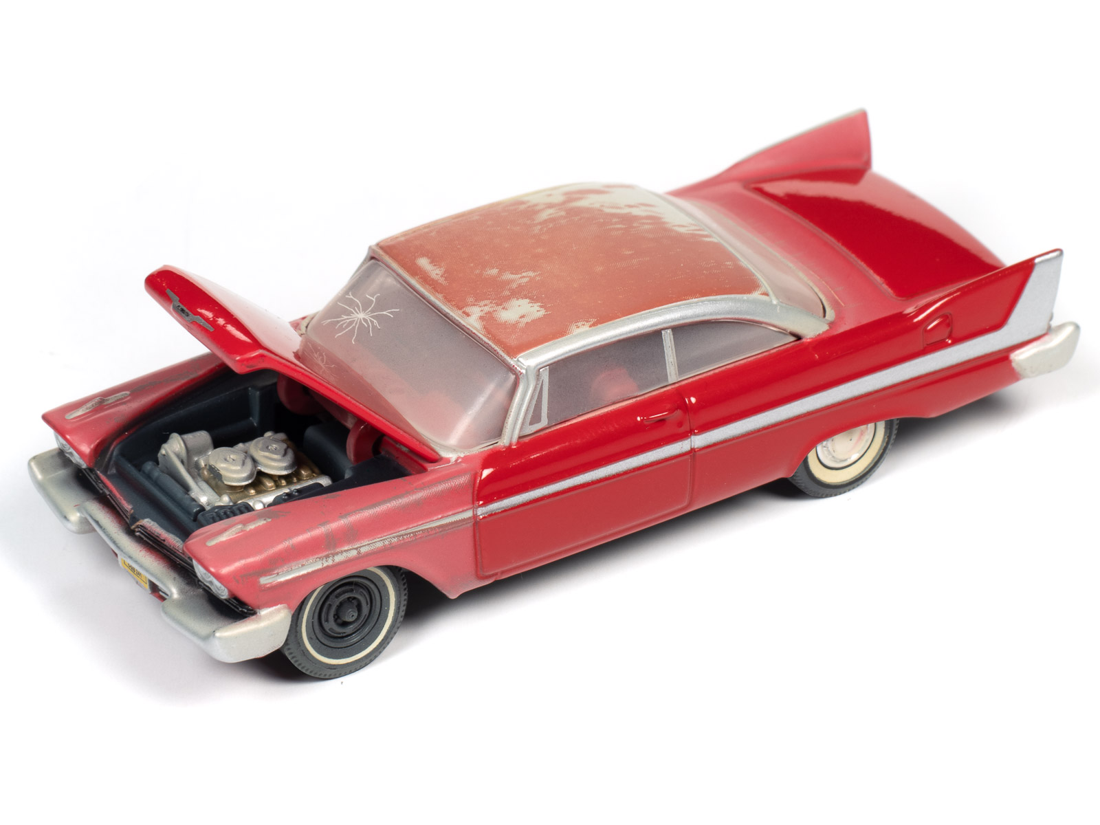 1//64 AUTO WORLD SILVER SCREEN CHRISTINE AN EVIL 1958 PLYMOUTH FURY RESTOREING