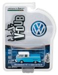 Greenlight V-DUB Series: 1968 VW T2 Type 2 Double Cab Pick-Up 1/64 Scale