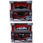 Set of 2: Fast & Furious Build n Collect Brian's Nissan and Dom's Charger 1/55 Scale