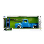 Just Trucks Series: 1956 Ford F-100 Pickup 1/24 Scale with Extra Wheels on Rack