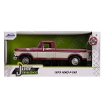 Jada Just Trucks Series: 1979 Ford F-150 Pickup Truck (Burgundy/White) 1/24 Scale