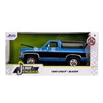 Jada Just Trucks Series: 1980 Chevy K5 Blazer Stock (Blue) 1/24 Scale