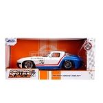 Jada Bigtime Muscle Series: 1963 Chevy Corvette Sting Ray (White/Red/Blue) 1/24 Scale