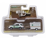 Hitch & Tow: 2015 Ford Explorer NY City Dept. of Parks & Recreation and Cargo Trailer 1/64 Scale