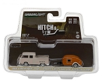 Hitch & Tow: 1968 VW Type 2 Double Cab Pickup and Teardrop Trailer 1/64 Scale