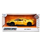 Jada Toys HyperSpec Series: 2017 Ford GT (Yellow) 1/24 Scale