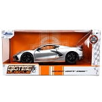 Jada Bigtime Muscle Series: 2020 Chevy Corvette Stingray (Silver) 1/24 Scale