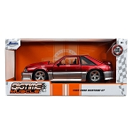 Jada Bigtime Muscle Series: 1989 Ford Mustang GT (Red/Gray) 1/24 Scale