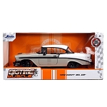 Jada Bigtime Muscle Series: 1956 Chevy Bel Air (White/Gray) 1/24 Scale