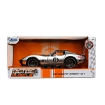 Jada Bigtime Muscle Series: 1969 Chevy Corvette Stingray #6 (Black/Silver) /24 Scale