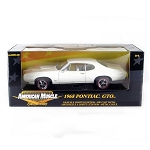 American Muscle: 1968 Pontiac GTO (White) 1/18 Scale