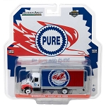 Greenlight H.D. Trucks: 2013 International Durastar Box Van Pure Oil Co. Firebird Racing Gasoline 1/64 Scale