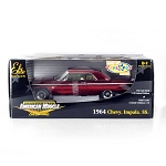 Chase Car! American Muscle: 1964 Chevy Impala SS Red Chrome Elite Edition 1/18 Scale