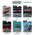 Set of 6: Greenlight Hollywood Series 24 1/64 Scale