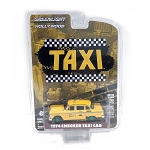 GREEN MACHINE! From Hollywood Series 29: Taxi's 1974 Checker Taxi Cab 1/64 Scale