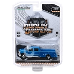 Greenlight Dually Drivers Series: 2018 Chevy Silverado 3500HD (Blue) 1/64 Scale