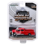 Greenlight Dually Drivers Series: 2018 Chevy Silverado 3500HD with Snow Plow 1/64 Scale