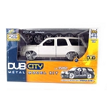 DUB City: 2002 Cadillac Escalade Model Kit (Pearl White) 1/24 Scale