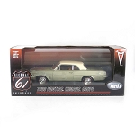 Highway 61: 1963 Pontiac LeMans Coupe (Olive with Ivory Top) 1/18 Scale