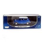 Motor Max: Classic Mini Cooper (Blue with White Top) 1/18 Scale