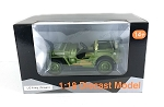USA Army Military Jeep 1/18 Scale