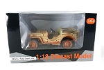 USA Army Military Jeep Desert (Rusty Version) 1/18 Scale.