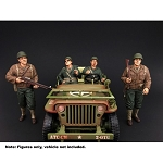 American Diorama Set of 4: WWII USA Soldiers 1/18 Scale