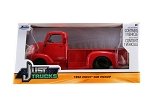 Just Trucks Series: 1952 Chevy COE Pickup (Red with Black Trims) 1/24 Scale