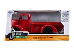 Just Trucks Series: 1952 Chevy COE Flatbed (Red with Black Trims) 1/24 Scale