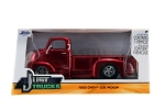 Just Trucks Series: 1952 Chevy COE Pickup (Red with Chrome Trims) 1/24 Scale