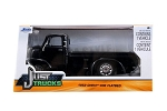 Just Trucks Series: 1952 Chevy COE Flatbed (Black with Chrome Trims) 1/24 Scale