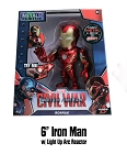 "6"" METALS Marvel: Iron Man with Light up Arc Reactor from Civil War"