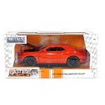 Bigtime Muscle Series: 2015 Dodge Challenger SRT Hellcat (Orange) 1/24 Scale
