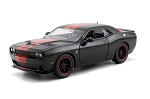 Bigtime Muscle Series: 2015 Dodge Challenger SRT Hellcat (Black/Red) 1/24 Scale