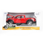 Just Trucks Series: 2017 Ford F-150 Raptor (Red) 1/24 Scale
