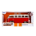 Jada Bigtime Kustoms: 1962 Volkswagen Bus (Red w/ White) 1/24 Scale