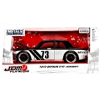JDM TUNERS: 1973 Datsun 510 Widebody (Black/Silver) 1/24 Scale